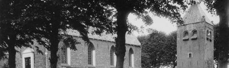Kerkterrein zoals het vroeger was
