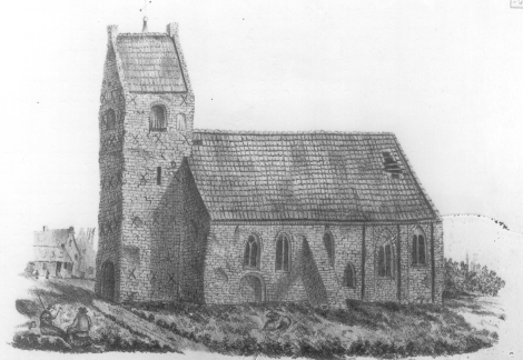 Afgebroken kerk van Groot Wetsinge