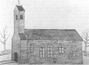 schets van de middeleeuwse kerk