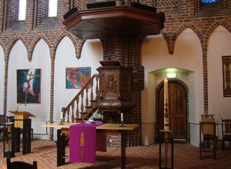 Preekstoel in Winschoten