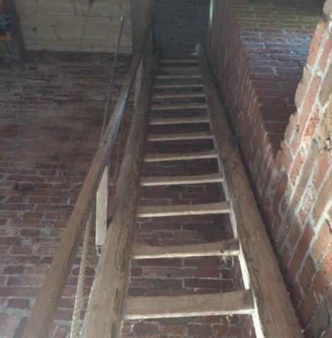 Deze trap is dus afgekeurd