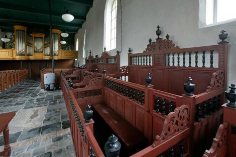 Interieur van de kerk in Visvliet / foto Omke Oudeman