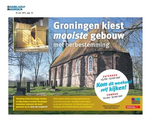 Publieksprijs voor kerkje Leegkerk