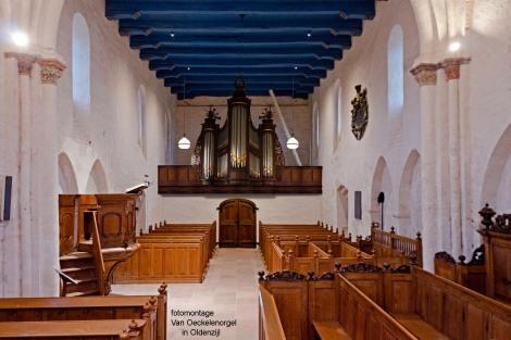 montagefoto Nicolaaskerk, Oldenzijl