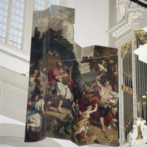 Orgelluiken in de Westerkerk te Amsterdam