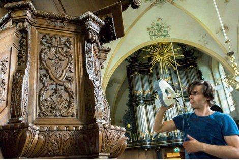 3D-scanning in de Hippolytuskerk, door 4Visualization