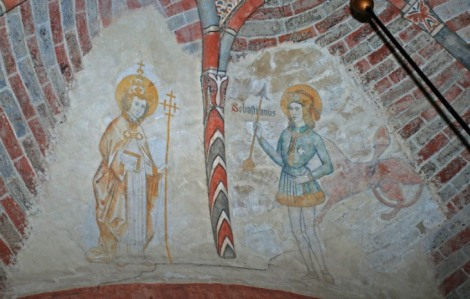 Fabianus en Sebastianus op het gewelf