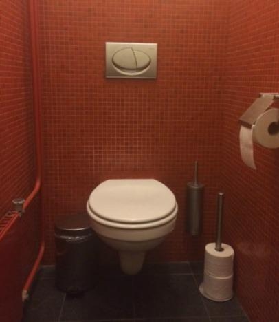 """""""koninklijk toilet"""" in de Der Aa-kerk"""